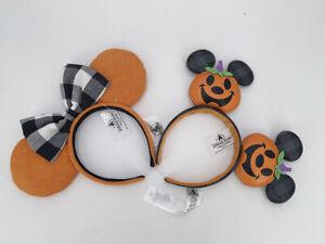 Corduroy Cutie Orange Ears Headband 2021 Disney Parks Jack O' Lantern Pumpkin
