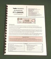 Yaesu FT-2900R Service Manual -  Premium Card Stock Covers & 28 LB Paper!