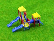 1:160 N Scale Childrens Playground Park with Slides Set for model train layout
