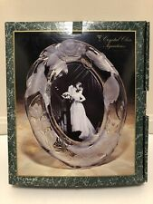 Crystal Clear Signatures Crystal Frosted Floral Design Oval Picture Photo Frame