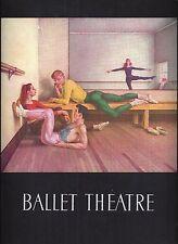 "Paul Cadmus ""BALLET THEATRE"" Alicia Alonso / George Platt Lynes 1951 Program"