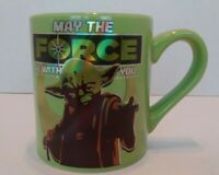 Star Wars Yoda May the Force be With You Green Coffee Cup Mug 14 oz