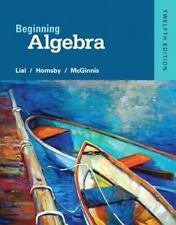 ~Beginning Algebra 12th edition Lial, Hornsby, McGinnis NEW instructor's ed.  c