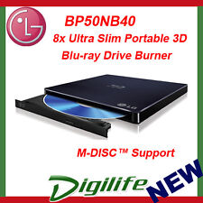 LG 8x USB Portable External Slim Blu-ray Burner Drive BP50NB40