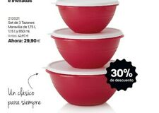 OFERTA -30% Tazón Maravilla Set De 3 Tamaños Tupperware