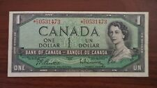 1954 1$ dollar bill canada replacement note VF *D/O0531473
