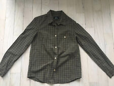 APC Rue Madame Paris Green Plaid Button Down Size XS
