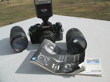 """""""Canon AE-1 Lens FD 50mm 1:1.8 SLR Camera + Lenses BONUSES"""""""