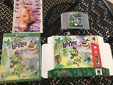 Yooka-Laylee Kickstarter 64-Bit Edition Box Signed Manual Nintendo USB Cart Game
