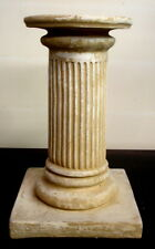 Round Fluted Greek Roman Column Art Table Top Pedestal Riser Sculpture 33008
