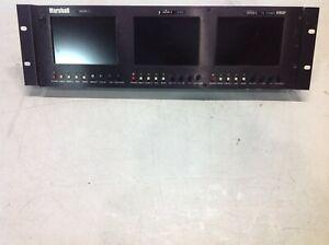 "MARSHALL ELECTRONICS V-R63P 5.8"" LCD MONITOR VIDEO AUDIO NTSC PAL"