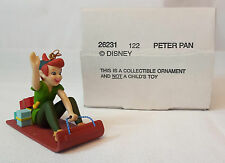 Grolier Disney PETER PAN on SLED Christmas Magic Ornament #122 MINT in BOX