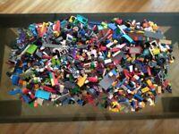 1 Kg LEGO KILOWARE STEINE PLATTEN RÄDER UND VIELES MEHR LEGO KONVOLUT