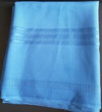 """Blue Fabric Tablecloth Rectangular 60"""" X 102"""" Solid With Cut Outs"""
