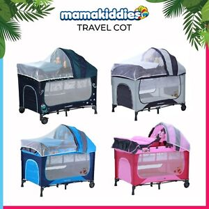 Portacot  Travel cot  Bassinet Sliding Foldable Portable Infant Baby Cot Playpen