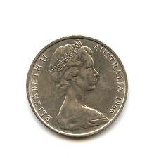 Pièce de monnaie Australie 50 cents 1966 Elisabeth II Argent