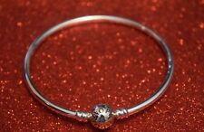 GENUINE PANDORA MOMENTS CHARM BANGLE BRACELET S925 ALE 17CMS STERLING SILVER