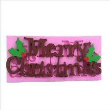 Merry Christmas Mould Cup Fairy Cake Decorating Tool Silicone Mold Non-toxic FA