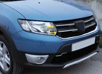 Chrome Grille de Calandre 4pcs INOXYDABLE Dacia Sandero Stepway / Logan MCV II