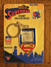 SUPERMAN Key Ring Stamp Collectibles Key Chain 1998 USPS DC Comics NEW Sealed