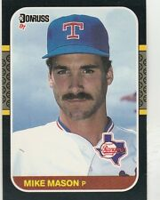 FREE SHIPPING-MINT-1987 Donruss Texas Rangers Baseball Card #284 Mike Mason