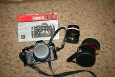 Konica Autoreflex TC 35mm SLR Camera Hexanon AR 50mm F1.4  filter Teleconverter