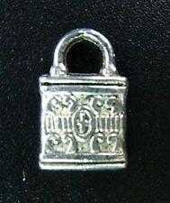 40 un. Candado recargado de Plata Tibetana Dijes R90
