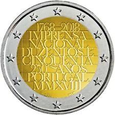2 euro 2018 - Portugal - 250 ans Imprimerie Nationale