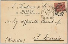 REGNO - Storia Postale: CARTOLINA pubblicitaria da MILANO annullo ESAGONALE 1899