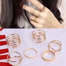 6 PCS Latest Fashion Punk Stack-able Midi Ring Sets For Women UK SHIPPING