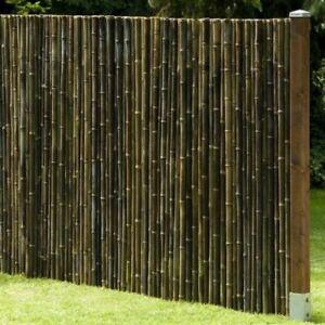 Sichtschutz BLACK Bambus Gartenzaun Windschutz Zaun Bambuszaun in 13 Größen