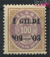 Iceland 34A with hinge 1902 print edition (8883171