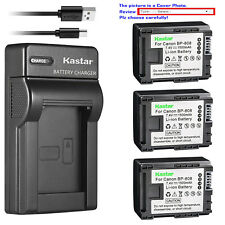 Kastar Battery Slim Charger for Canon BP-808 CG-800 & Canon FS300 Camcorder