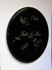 "FAITH NO MORE - FULLY SIGNED 16"" MUSIC ARTIST/LOGO STYLE DRUMHEAD"