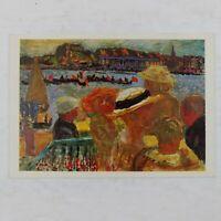 POSTCARD Pierre Bonnard French Post Impressionist Fete Sur L'Eau REGATTA Vtg