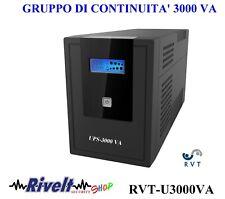 Gruppo di continuità UPS 3000VA Protezione TVCC Stampante Dvr stufa pellet