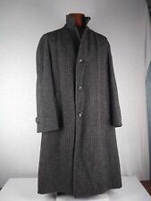 Vtg Harris Tweed Handwoven Scottish Wool Dress Over Trench Coat Gray Sz 46-48?