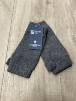 100% Cashmere Wrist Warmers  | Johnstons of Elgin | Made in Scotland | Charcoal