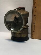 Vintage Auto Lite Universal Lamp Co Brass Carbide Headlamp Coal Miner Lamp Light