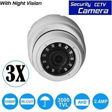 3 x 2.4MP Sony CCTV 4IN1 Dome Camera Full HD CVI 238AHD TVI Analog NIGHT VISION