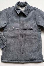 Filson Men's Sherpa Lined Wool Cape Coat -Gray/Black/Twill