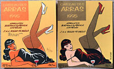 BERTHET - Etiquette PIN UP CHATEAU DES ARRAS 1995 DUO - Sérigraphié