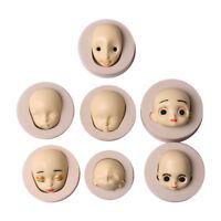 Bébé visage silicone moule chocolat polymère argile poupées visage Cr RD