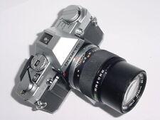 OLYMPUS OM30 35mm FILM SLR CAMERA W/ OLYMPUS 135mm F/3.5 E.ZUIKO LENS * Ex++