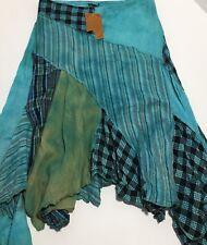 Kathmandu Imports Handmade In Nepal Asymmetrical Two Layer Skirt Size Large New