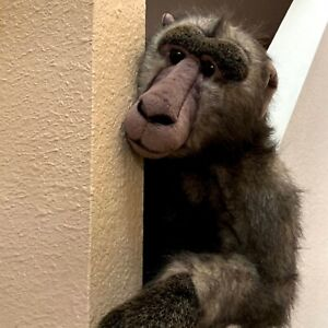 Realistic Baboon Plush Toy Large 20 Inches Huggable Soft