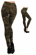 US Fashion Women's Camouflage Leggings Army Green Military Trousers Yoga Pants