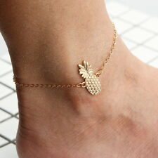 Women Pineapple Charm Anklet Bracelet Chain Sandal Beach Foot Jewelry Gift