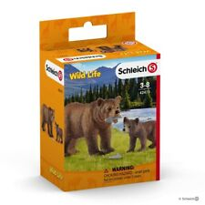 Grizzly Bear Mother with Cub, Schleich Wild Life Play Set - model number 42473