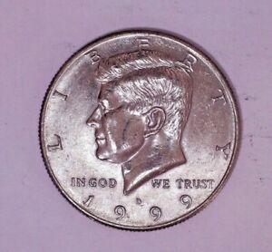 1999 D Kennedy Half Dollar Circulated - Low Mintage - Higher Grade